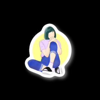 ミドリ ハナ@maro_coの休憩。 【両面アリ】 Stickers