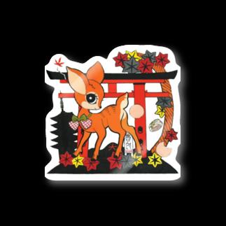 つねやの鹿神様 Stickers
