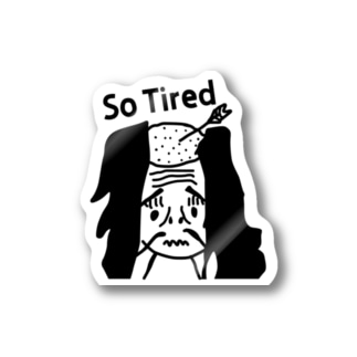 落ち武者 So Tired Stickers