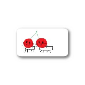 さくらんぼネコ Stickers