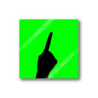 QB🦖のワンハンド・グリーン Stickers