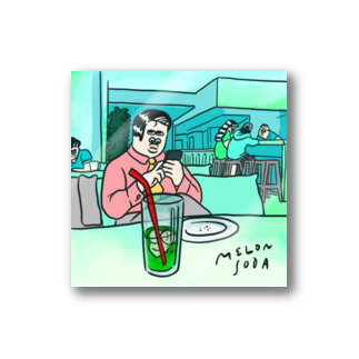 TOKYO.I.S / 東京国際商店のメロンソーダを飲むひと Stickers