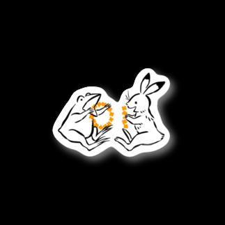 しきいろの鳥獣戯画(ポップ) Stickers