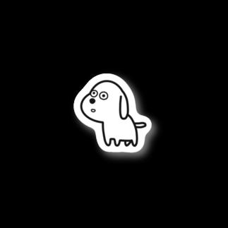 inu shopのなにか見つけたイヌ Stickers