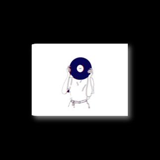 art_posca_drawingのレコード好きなあの子 Stickers