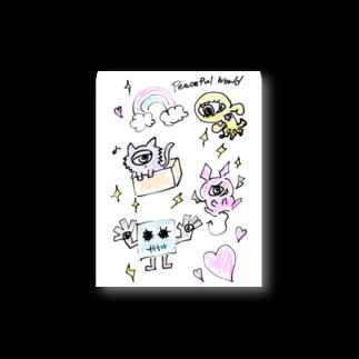 邂【サイマラショップ】逅 SUZURI店のサイマラ サクリファイスくんと仲間たち ピースフルワールド Stickers