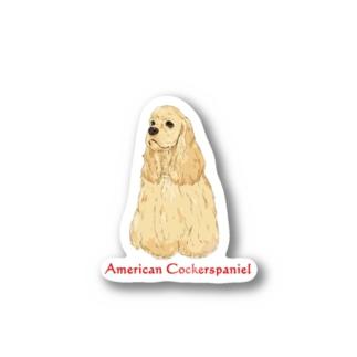 American Cockerspaniel Buff Stickers