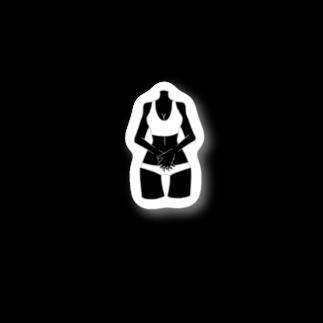 フクダナゴの首なしビニキ Stickers