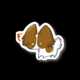 SHIMSHIMPANのびっくりパピヨン Stickers