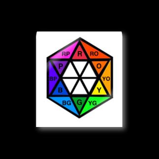 MedelBox™️ by MEDELの相対十二色相環  (イニシャル) Stickers