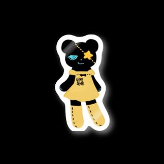 Suzuki Satomi イラストショップの黒クマちゃん Stickers