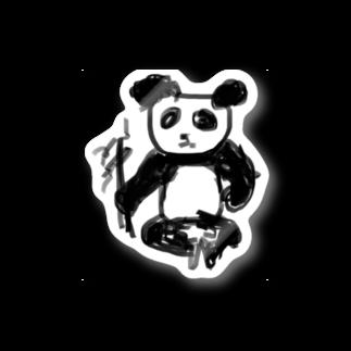見ないで書く絵のパンダ Stickers