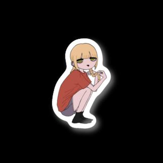 巴の三つ編みちゃん Stickers