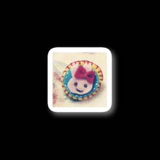 ふわふわやさんのカラフルうさぎ Stickers