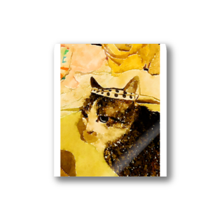ponpokotoraのハチマキネコ Stickers