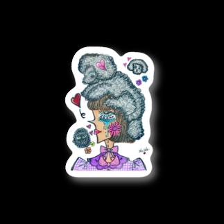 maimaice_creamのトイプードルガール Stickers