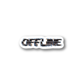 offline black logo Stickers