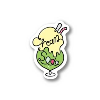 クリームソーダ ロゴマーク Stickers