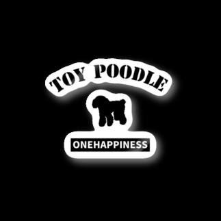 onehappinessのトイプードル Stickers