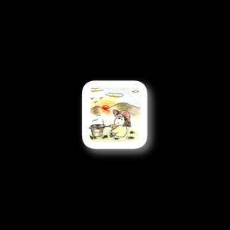 みわぽんのみわぽん 秋刀魚焼くバージョン Stickers