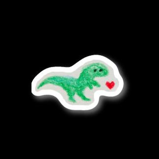 まみたろうグッズ販売店の恐竜くん Stickers
