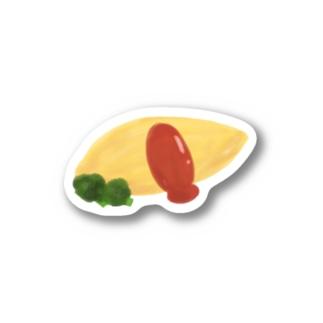 水彩オムライス (皿無し) Stickers