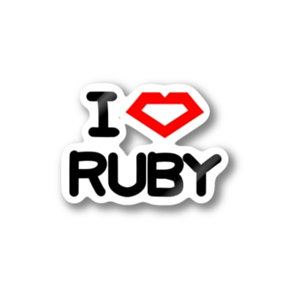 I Love RUBY Stickers