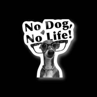 イロハのNo dog,No life! 黒 Stickers