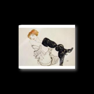Art Baseのエゴン・シーレ / 1913 / Woman in Black Stockings / Egon Schiele Stickers