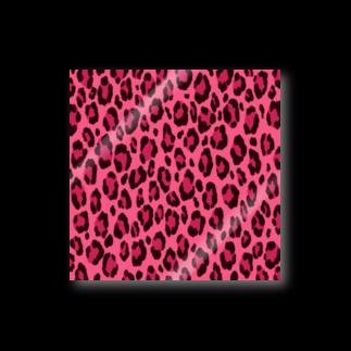 みや猫のヒョウ柄(ピンク) Stickers