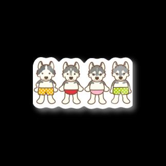 HUS×HUSのおパンツハスキー4 Stickers