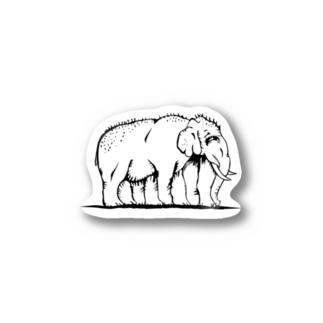 気味が悪い象! Stickers