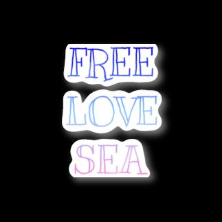 ますみのFREE LOVE SEA Stickers