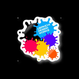 UsakichiDesignWorksのカラフルインクステッカー Stickers
