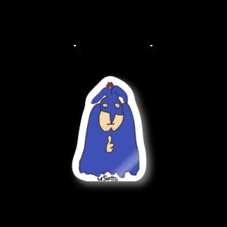 Bluelemonのうさっとマン 花 Stickers