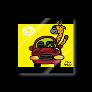 kota_anchor_artのきりんさんと赤い車 Stickers