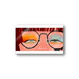 眼鏡の奥の景色 Stickers