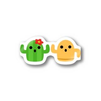 ハニワとサボテン Stickers
