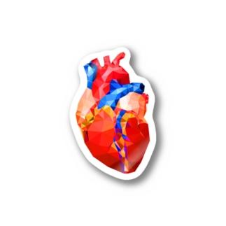 Glass Heart Stickers