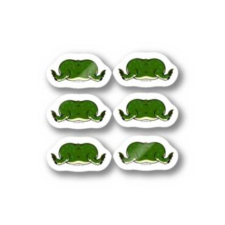 タピオカガエルのお尻コレクション Stickers