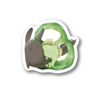 エゾリスステッカー Stickers