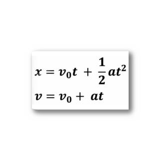 理系、技術系、エンジニアショップの物理学方程式シリーズ Stickers