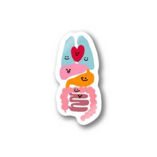 臓器だZOU(顔アリ版) Stickers