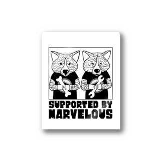 marvelousと秋田犬 Stickers