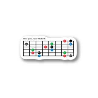 I love 7th chords Stickers