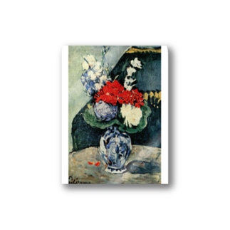 ポール・セザンヌ / 1874 /Still life, Delft vase with flowers / Paul Cezanne Stickers
