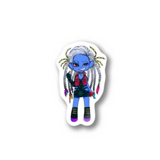 TECHNICOLOR BUGS【コバルトブルータランチュラ】 Stickers