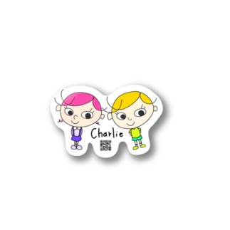 charlie familly ' twins'.        Stickers