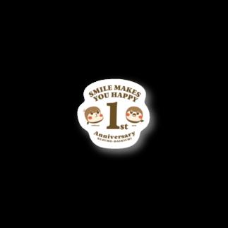 aliveONLINE SUZURI店のすずめだいきち1st Anniversary Stickers