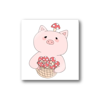 きのこ狩り豚ちゃん Stickers